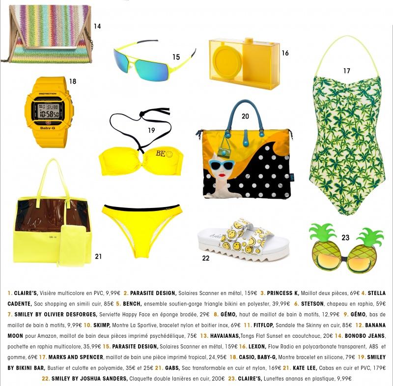 Sélection Beachwear jaune