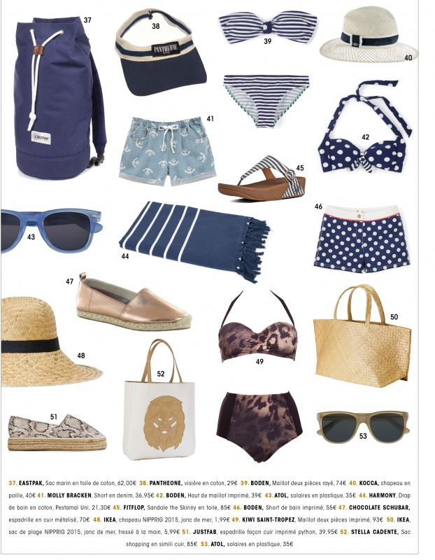 Sélection Beachwear bleue