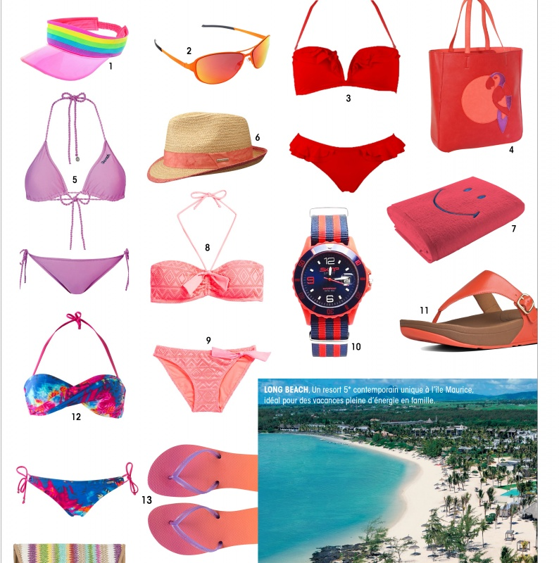 Sélection Beachwear rose