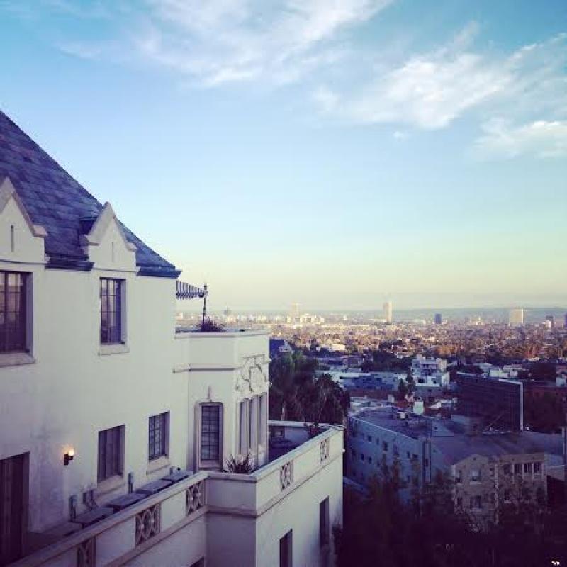 Vue sur Los Angeles depuis le Château Marmont DR : Sébastien Bizet