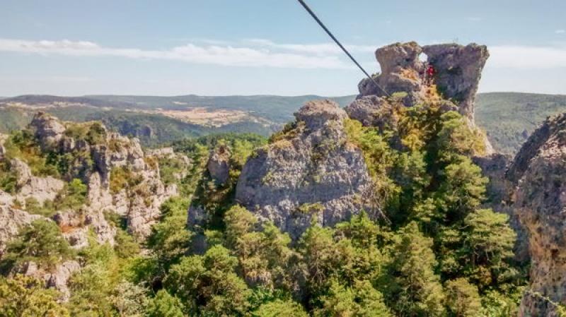 """Via ferrata à Montpellier le Vieux, le """"Bryce Canyon"""" à la française"""