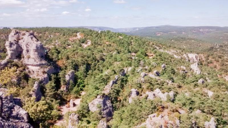 """Paysage impressionnant à Montpellier le Vieux, le """"Bryce Canyon"""" à la française"""