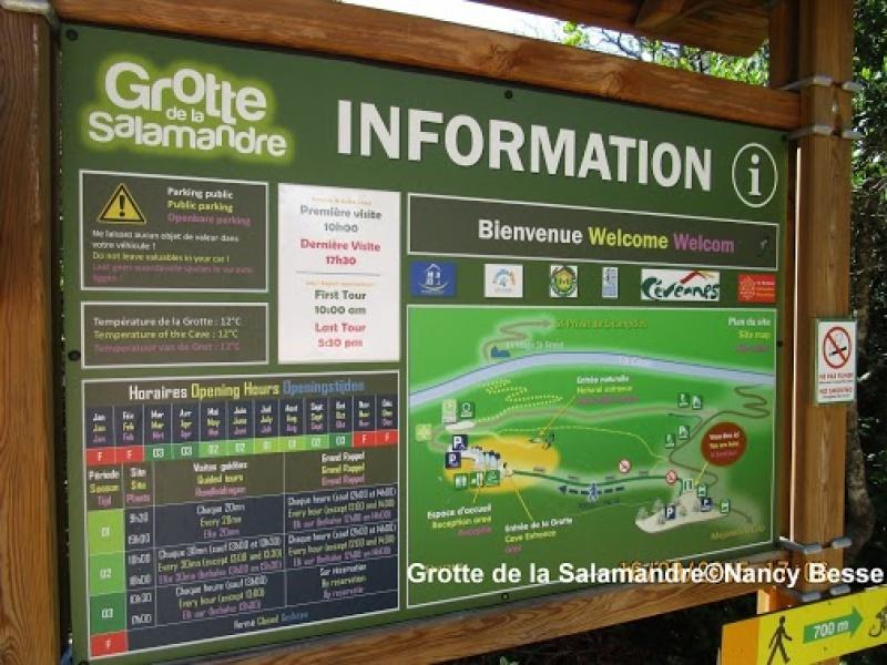 Informations pratiques à la grotte de la Salamandre