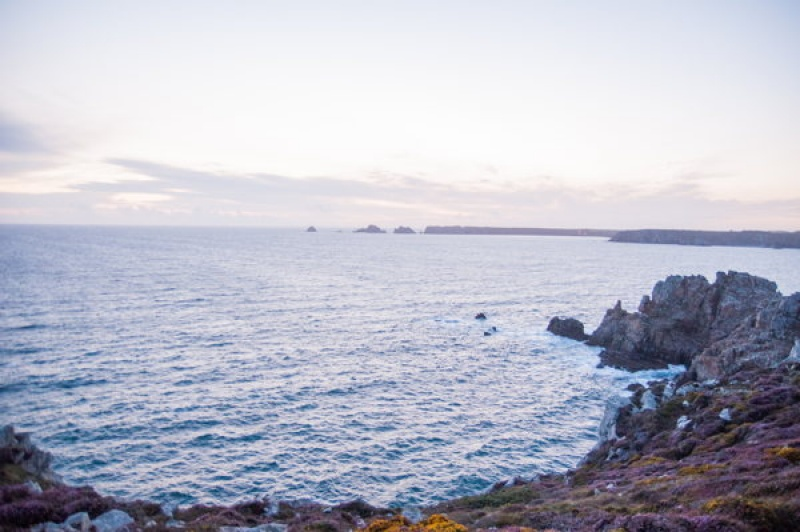 L'océan atlantique à la pointe de Pen-hir en Bretagne