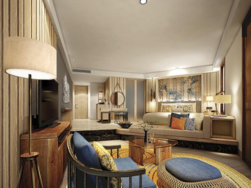 Salon - suite - Touessrok Resort à l'île Maurice