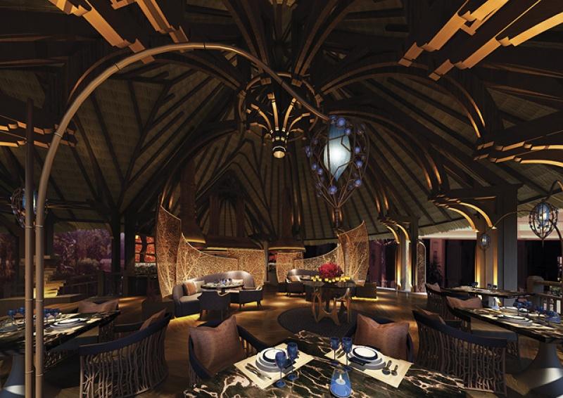 Déco restaurant - Touessrok resort à l'île Maurice
