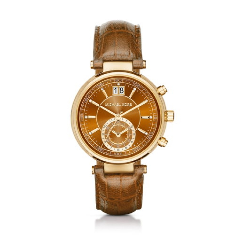 Montre marron de Michael Kors