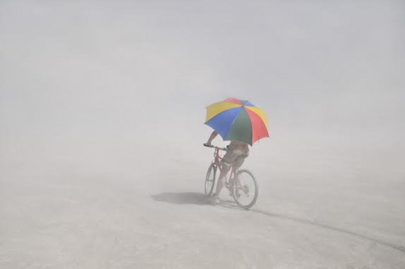 En vélo à Burning Man - Etats-Unis