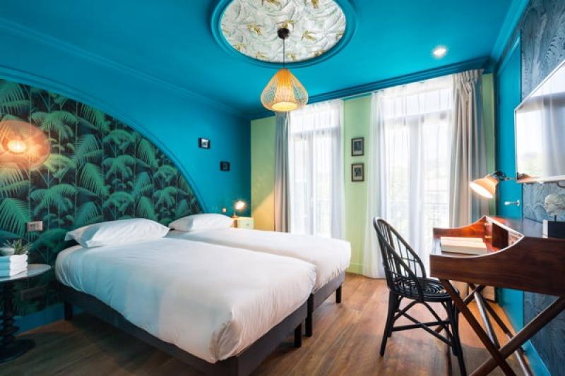 Chambre bleue - Villa Bougainvilles à Nice
