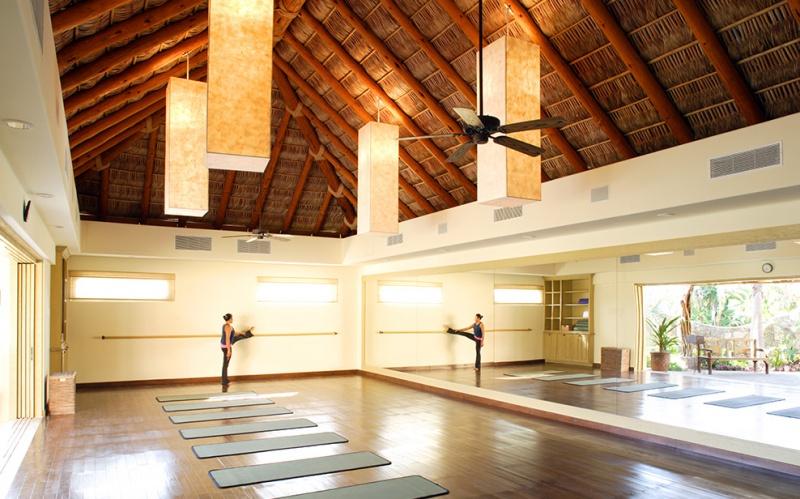 Salle de fitness - auberge Espéranza au Mexique