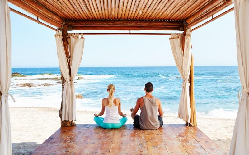 Séance Yoga - auberge Espéranza au Mexique