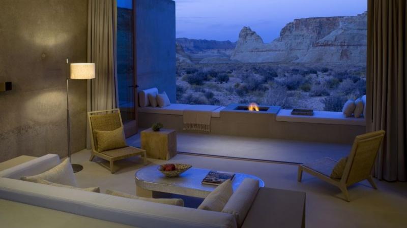 Salon - l'Amangiri hôtel - Etats-Unis - désert