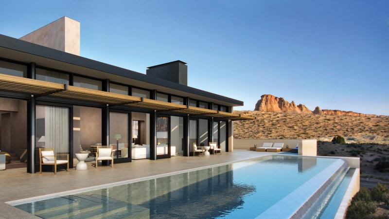 L'Amangiri hôtel - Piscine - désert aux Etats-Unis