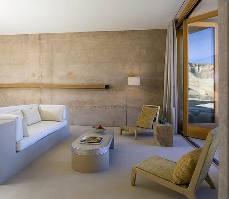 Salon dans la chambre - Amangiri hôtel - désert - Etats-Unis