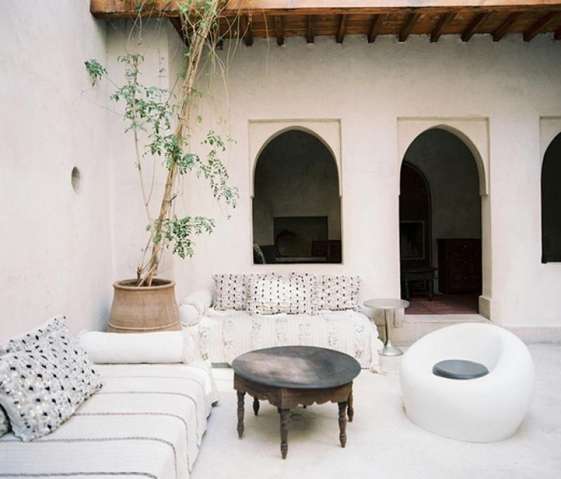 Salon design - riad El Fenn - Maroc