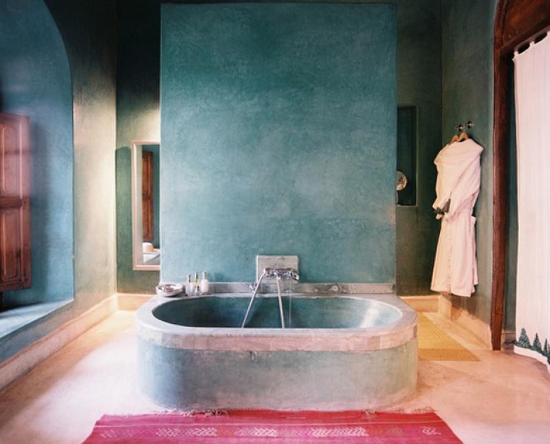 Salle de bain - riad El Fenn au Maroc