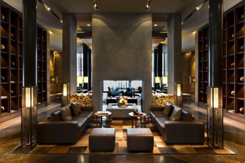 Salon - Chedi Andermatt Hôtel dans les Alpes Suisses