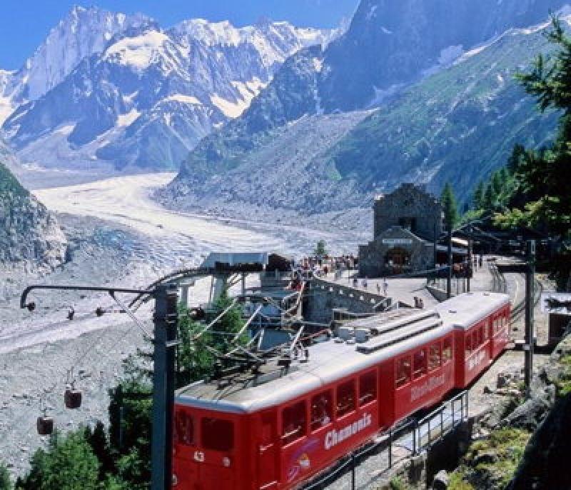 Petit train à Chamonix