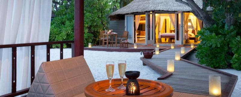 Une petite coupe de champagne - Banyan Tree Vabbinfaru aux Maldives