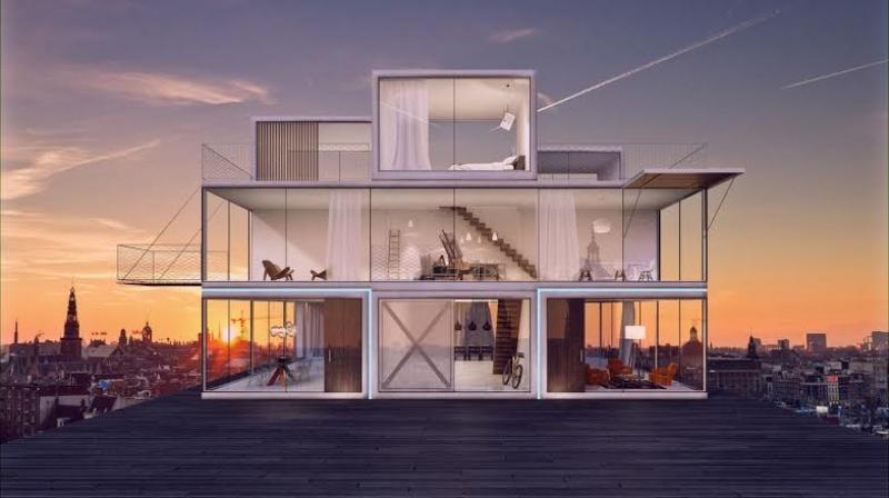 La maison Tétris - Pays-Bas