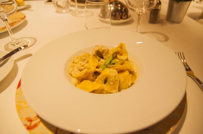 Des raviole excellentes du chef - costa favolosa - costa croisières - caraibes